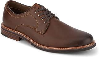 Dockers Mens Morrison Leather Dress Casual Oxford Shoe with NeverWet, Cognac, 11 M