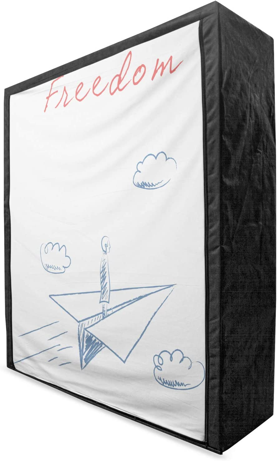 Ambesonne Adventure Portable Sale special price Fabric Wardrobe trend rank Plane Paper Flying