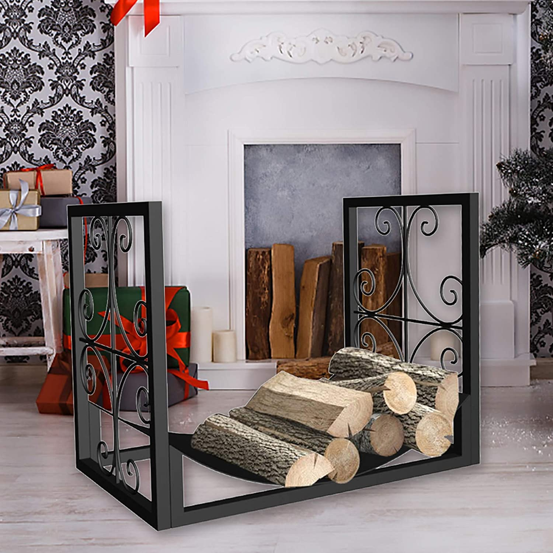 ZJM Fireplace Charlotte Mall Oakland Mall Screens Small Decor for Rack Firewood Log Holders