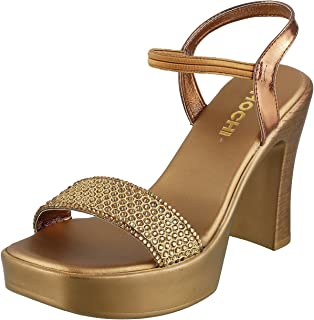 Mochi Women Gold Synthetic Sandals (35-3290) 35-3290-15-GOLD