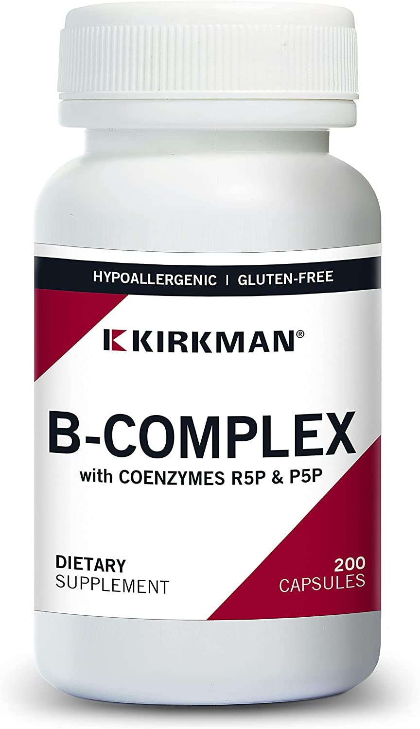 unisex Kirkman B-Complex with CoEnzymes Max 79% OFF R5P 20 P5P Hypoallergenic -
