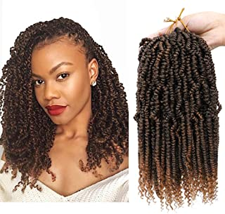 Bomb Twist Crochet Hair Mini Passion Twist Hair 12 Inch 4Packs Fluffy Spring Twist Hair Ombre Synthetic Hair Extensions (T30)