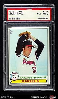 1979 Topps # 115 Nolan Ryan Los Angeles Angels (Baseball Card) PSA 8 - NM/MT Angels