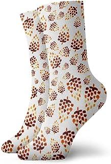 Unisex High Ankle Cushion Crew Socks Nut Pattern Casual Sport Socks