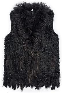 Warm Winter Mongolian Real Rabbit Fur Vest Jacket for Women