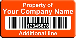 Barcode Labels - Custom Asset Tags (1000)