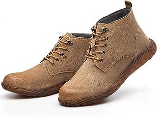 YLME Werkschoenen mannen, veiligheidsschoenen mannen, anti-smash/anti-punctie/slip/ademend/met stalen teen/licht//thletisch