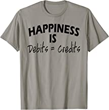 Happiness is Debits Equals Credits Accountant Gift T-Shirt