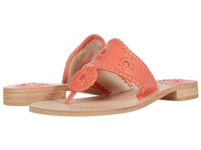 Jack Rogers Jacks Flat Sandal (Coral) Women