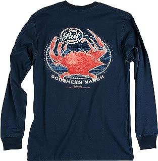 Southern Marsh Long Sleeve Crab Boil Long Sleeve T-shirt-Navy-large