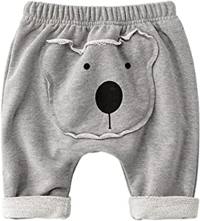Pantalon Bébé Harem Pantalon Garçons Filles Leggings Pantalon de Sport Coton Jogging 6-12 Mois