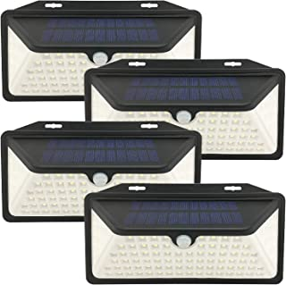 Solar Plus LE-11A Outdoor 100 LEDs Solar Motion Sensor Security, Wall Lights for Garden Patio Yard Deck Garage Fence Pool ...