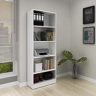 tecnomobili Office Cabinet, White - W 25.5 cm x D 59.8 cm x H 160 cm