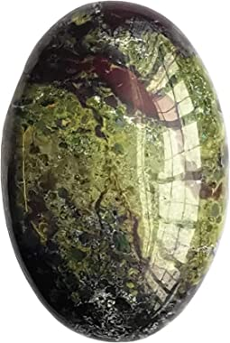 """""""N/A"""" Natural Dragon Blood Jasper Oval Palm Pocket Healing Crystal Massage Spa Energy Stone,Crystals and Healing Ston"""
