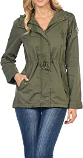 Women's Versatile Military Safari Utility Anorak Street Fashion Hoodie Jacket