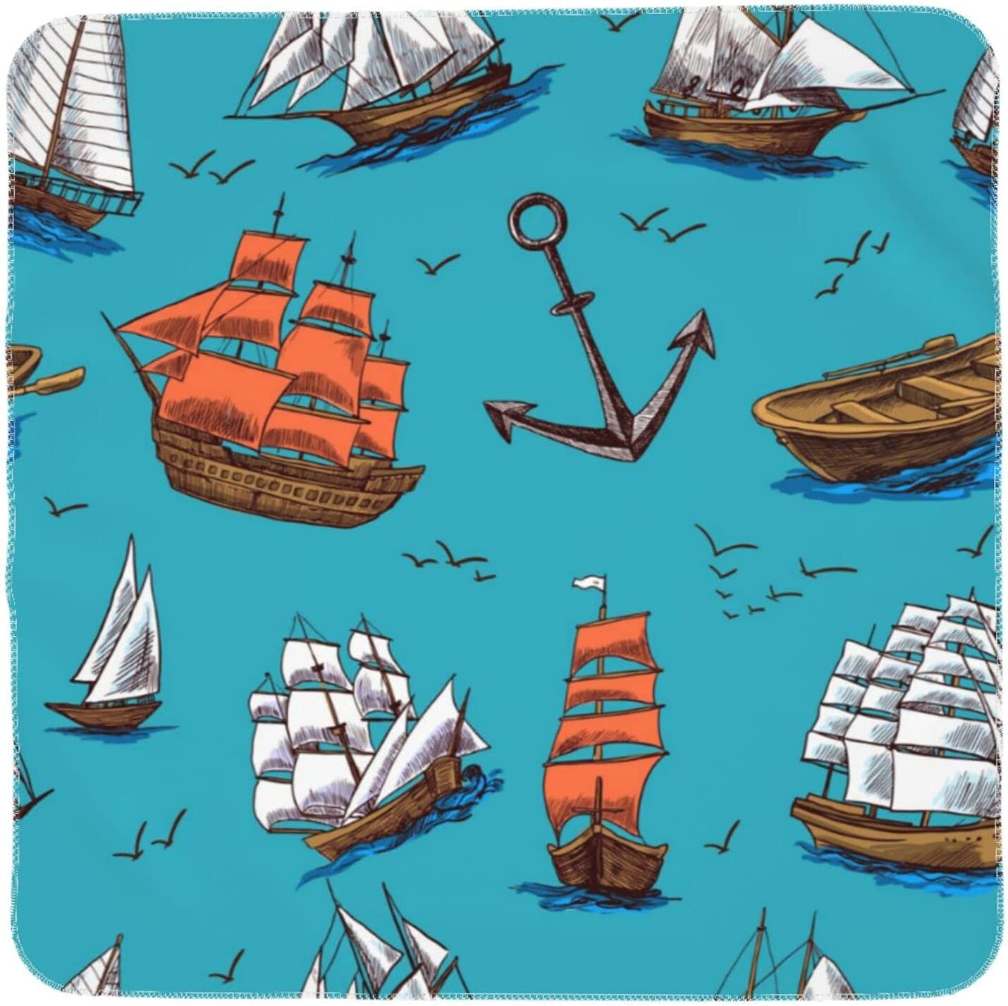 Vintage Sailboats and Anchors Unisex Excellent Breat Baby Jeezhub ...