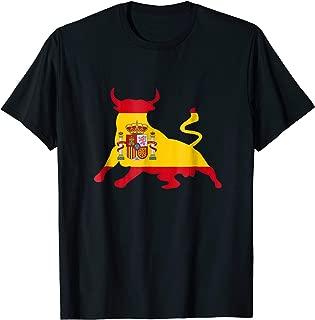 Spanish Bull Fighting Tshirt Spain flag gift Tee Shirt
