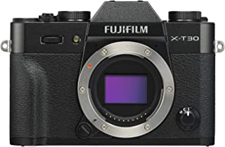 Fujifilm X-T30 Mirrorless Digital Camera, Black (Body Only)