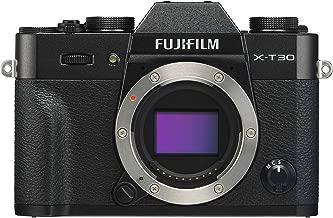 Fujifilm X-T30 Mirrorless Digital Camera, Black (Body Only)
