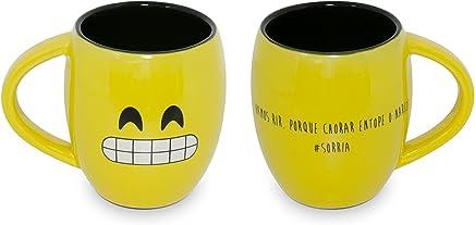 Caneca Côncava Mondoceram Amarelo 11,8 x 8,6 x 9,5 cm