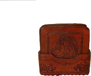 Wholesale 3 Pack Genuine Square Leather Hand Tooled Coaster Set 8 Pieces Fair Trade Peru *000455*