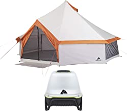 OZARK TRAIL 8-Person Yurt Camping Tent Bundle with 500 Lumen Rechargeable Camping Lantern
