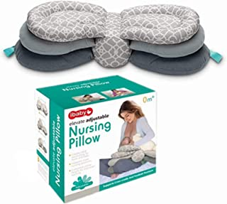 Nursing Pillow and Position Breastfeeding Baby,Elevate Adjustable Newborn Support Cushion Adjustable Baby Protection Pillow,Pillow Cover 100% Cotton,Washable