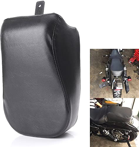discount Mallofusa Motorcycle Passenger Rear Seat high quality sale Cushion Pillion Pad Compatible for Sportster XL1200X XL1200V 2016 2017 Black outlet sale