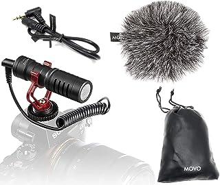 Movo VXR10 universele video-microfoon voor smartphones en camera's met houder, windbescherming, tas, compatibel met iPhon...