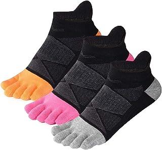 جوارب إصبع القدم لا تظهر القطن منخفضة القطع خمسة أصابع الجوارب الرياضية للنساء من Meaiguo