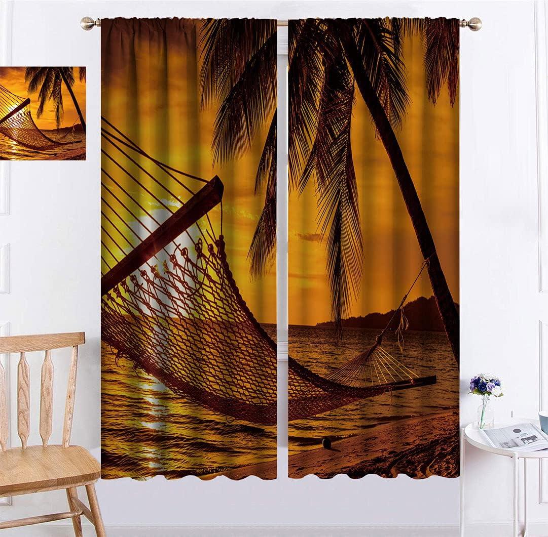 Beach Blackout Curtain Silhouette 1 year warranty of Hammock The by Tr on Ocean Fashion