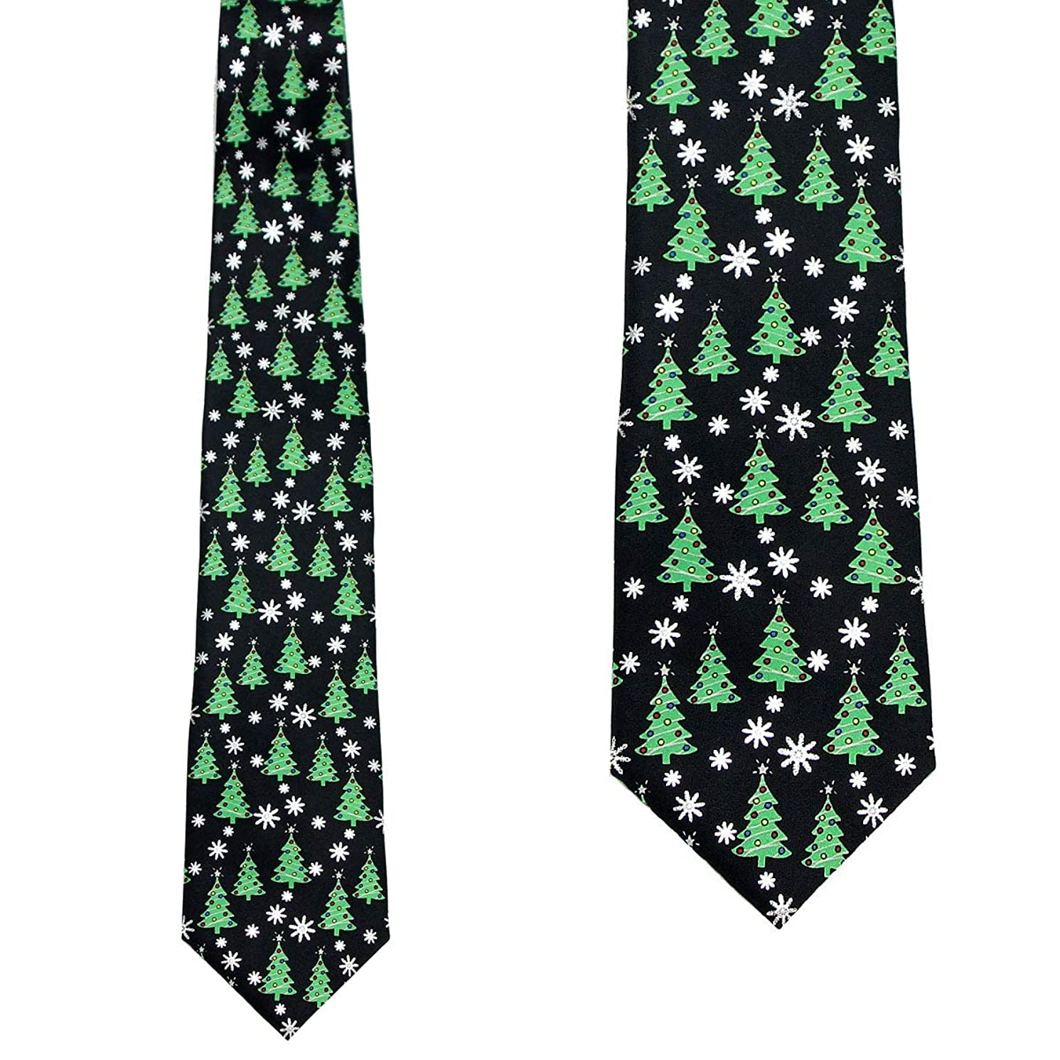 Mumusung Men's Christmas Novelty Tie - Merry Christmas Necktie