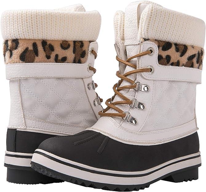 GLOBALWIN Women's Waterproof Snow Boots | Cute Winter Boots Women