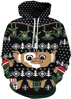 Grace's Secret Unisex 3D Ugly Christmas Sweatshirt Kangaroo Pocket Hoodies Pullover