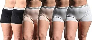 Blue 55 Women's Plus Size Cotton Spandex Boyshorts Underwear Brief Panties Boxers