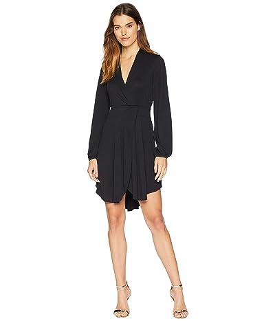 kensie Modal Jersey Wrap Dress KSNU7083 (Black) Women