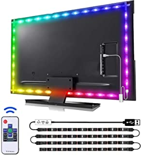 findyouled led Lights for tv 40-60in, 2M tv led Backlight Gaming Lights with Remote, USB led Light Strip for TV, Console, ...