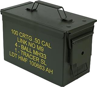 HMF 70011 Caja de Munición, US Ammo Box, Caja de Metal, 30 x 19 x 15,5 cm, Verde