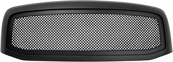 Paragon Front Grille for 2006-08 Dodge Ram 1500/2500/3500 - Matte Black Grill Grilles with Mesh