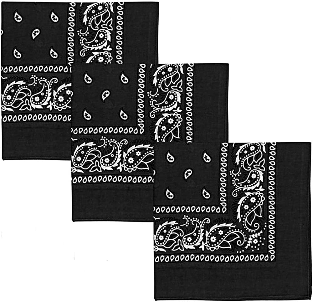Patty Both Cotton Bandanas 3 Pack Scarf Gaiter Face Neck Detroit Mall Cover Max 71% OFF