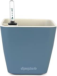"Aquaphoric Self Watering Planter (5"") + Fiber Soil = Foolproof Indoor Home Garden. Decorative Planter Pot for All Plants, Flowers, Herbs, African Violets, Succulents. Easy Looks Great. (Slate Matte)"