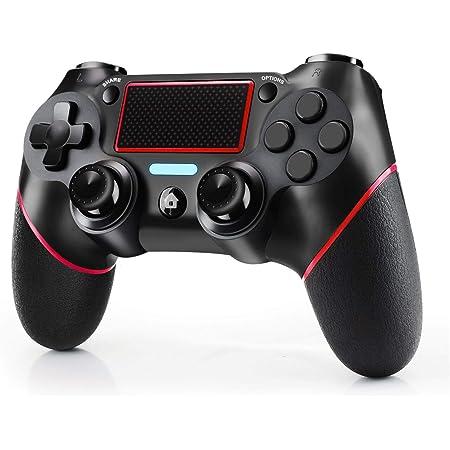 Controller per Playstation 4, Joystick Playstation 4 Design Avanzato del Sensore 3D e del Sensore G Gamepad Bluetooth Wireless con Doppia Vibrazione Compatibile Playstation 4 Slim/PRO And PC