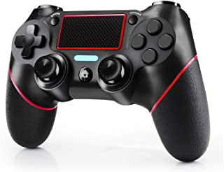 JAMSWALL Mando Inalámbrico para PS4, Mando para PS4/Pro/Slim/ PC, Controlador inalámbrico, Gamepad Wireless Bluetooth Controlador Joystick con Vibración Doble/Turbo/ Puerto de Audio/ Pantalla LED