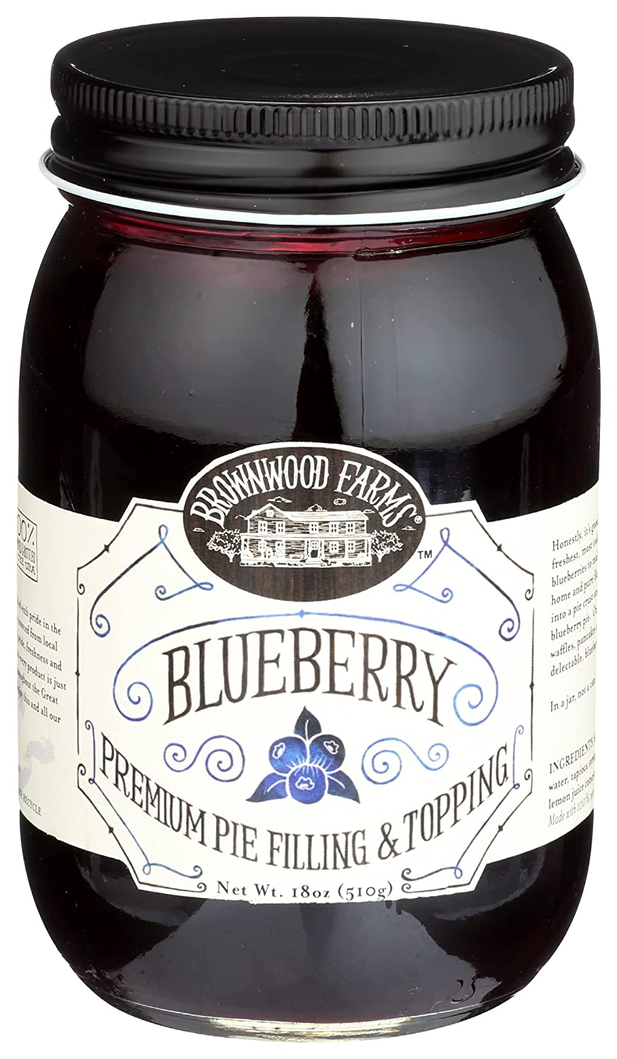 Brownwood Farms All stores are sold Pie Filling Cheap SALE Start 18 Ounce Blueberry