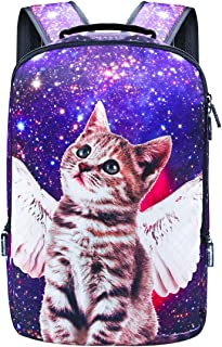 Backpack School Bag Book Bag for Boys Girls (Cat-Blue)