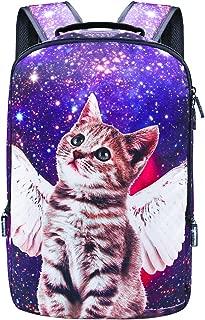 Backpack School Bag Book Bag for Boys Girls (Cat-Blue)