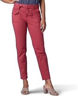 Lee Womens 46326 Regular Fit Straight Leg Utility Ankle Pant Pants