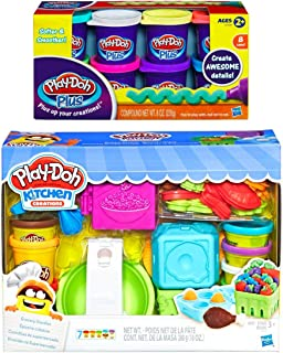 PD Play-Doh Kitchen Creations Grocery Goodies + Play-Doh Plus Compound Bundle