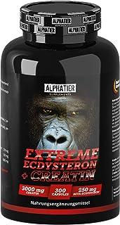 Ecdysterone Creatine Capsules hoog gedoseerd + veganistisch - 250mg ß-Ecdysteron (95% Cyanotis Arachnoideae extract (beter...