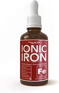 Ionic Liquid Iron Supplement (236 Servings) – Highest Absorption Rate Allows for Smaller Dose & Less Stomach Issues |Non-F...